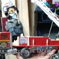 Juguetes antiguos Gozán: CAMION DE BOMBEROS METALICO DE GOZAN DE LOS AÑOS 70. Lote 33046122