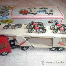 Juguetes antiguos Gozán: CAMION COLOSO CON MOTOS MONTESA DE GOZAN- NUEVO. Lote 35433754