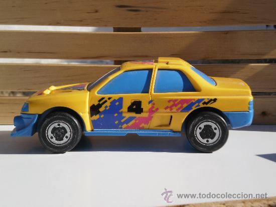 COCHE PEUGEOT- GOZAN ( MADE IN SPAIN ) DE ARRASTRE . PVC . (Juguetes - Marcas Clásicas - Gozán)