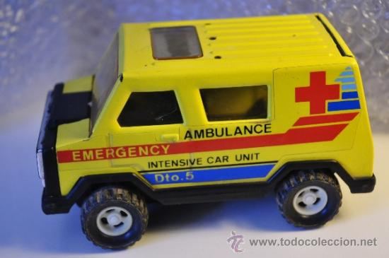 AMBULANCIA EMERGENCY INTENSIVE CAR UNIT DTO.5 GOZÁN (Juguetes - Marcas Clásicas - Gozán)