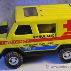 Juguetes antiguos Gozán: AMBULANCIA EMERGENCY INTENSIVE CAR UNIT DTO.5 GOZÁN. Lote 37364110