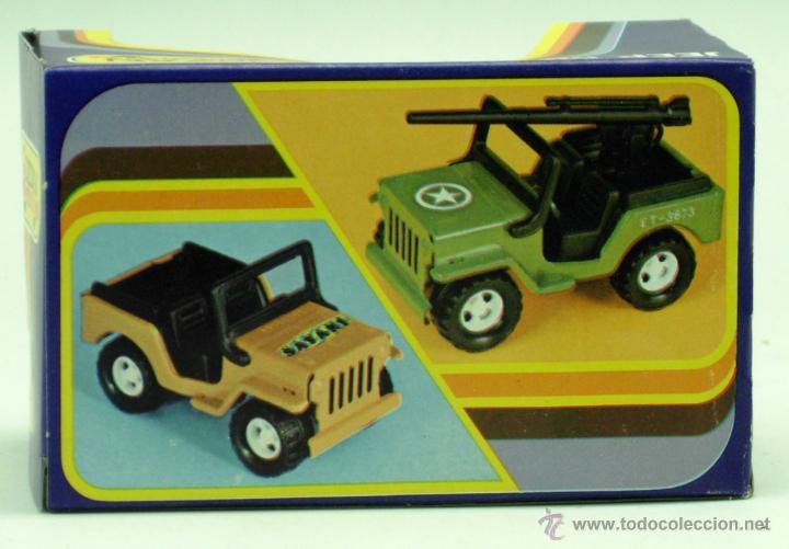 Juguetes antiguos Gozán: Furgoneta Jeep metálico Icona Gozán metal años 80 fricción caja nueva - Foto 3 - 169566184