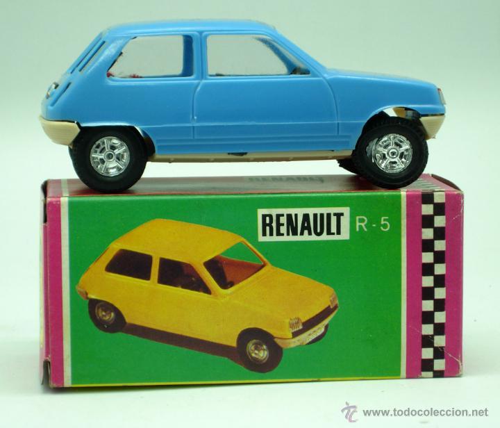 Juguetes antiguos Gozán: Renault 5 Gozán azul años 70 caja escala 1/28 Made in Spain Ibi nuevo - Foto 2 - 278370843