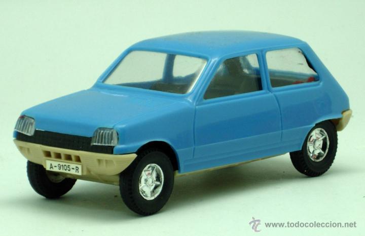Juguetes antiguos Gozán: Renault 5 Gozán azul años 70 caja escala 1/28 Made in Spain Ibi nuevo - Foto 4 - 278370843