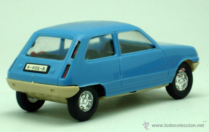 Juguetes antiguos Gozán: Renault 5 Gozán azul años 70 caja escala 1/28 Made in Spain Ibi nuevo - Foto 5 - 278370843