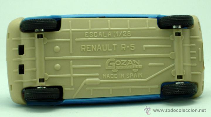 Juguetes antiguos Gozán: Renault 5 Gozán azul años 70 caja escala 1/28 Made in Spain Ibi nuevo - Foto 6 - 278370843
