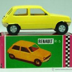 Brinquedos antigos Gozán: RENAULT 5 GOZÁN AMARILLO AÑOS 70 CAJA ESCALA 1/28 MADE IN SPAIN IBI NUEVO. Lote 161641528