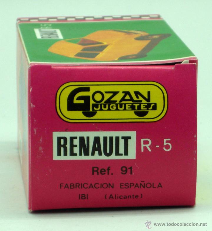 Juguetes antiguos Gozán: Renault 5 Gozán amarillo años 70 caja escala 1/28 Made in Spain Ibi nuevo - Foto 3 - 192467578