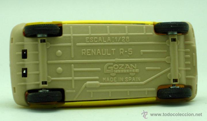 Juguetes antiguos Gozán: Renault 5 Gozán amarillo años 70 caja escala 1/28 Made in Spain Ibi nuevo - Foto 6 - 192467578