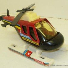 Juguetes antiguos Gozán: HELICOPTERO DE GOZAN AIR RESCUE FIRE DPT. RESCATE BOMBEROS. Lote 43541177