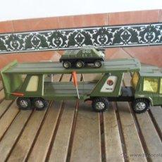 Juguetes antiguos Gozán: CAMION TRAILER TRANSPORTES MILITARES TIGRE CAR DE GOZAN. Lote 46998226