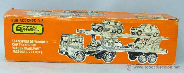 Juguetes antiguos Gozán: Camión Portacoches R 5 Gozán con caja Ref 515 con Seat 124 Sport y 1800 1/23 - Foto 10 - 49321789