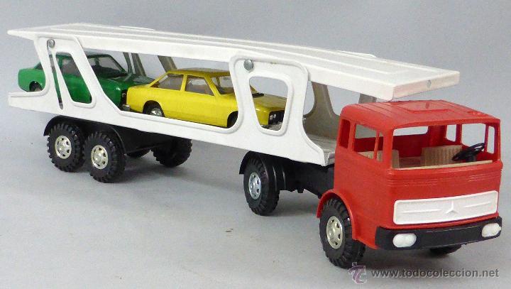 Juguetes antiguos Gozán: Camión Portacoches R 5 Gozán con caja Ref 515 con Seat 124 Sport y 1800 1/23 - Foto 4 - 49321789
