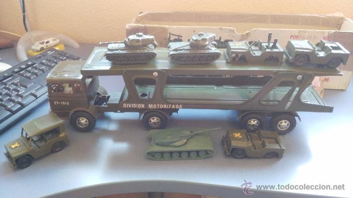 Juguetes antiguos Gozán: camion antiguo de gozan militar con tanques y camiones - Foto 5 - 51226921