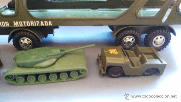 Juguetes antiguos Gozán: camion antiguo de gozan militar con tanques y camiones - Foto 6 - 51226921