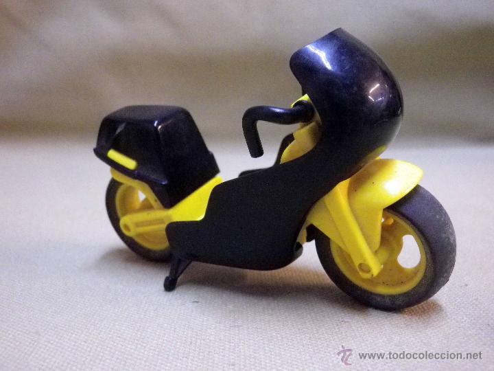 MOTO, MOTOCICLETA, FABRICADA POR GOZAN, 10 X 6,5 CM (Juguetes - Marcas Clásicas - Gozán)