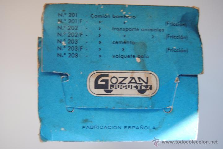 Juguetes antiguos Gozán: CAMION GANADO JUGUETE GOZAN - Foto 4 - 52448275