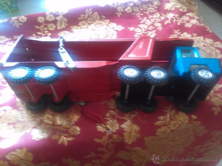 Juguetes antiguos Gozán: camion carga coches rojo gozan - Foto 2 - 53300333