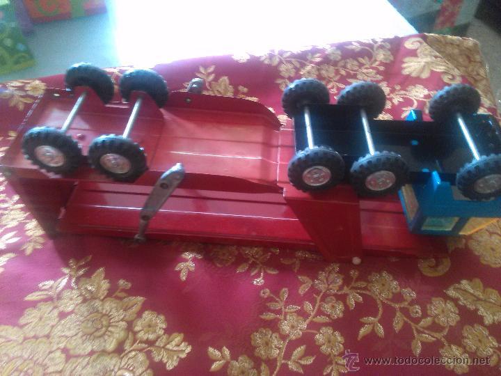 Juguetes antiguos Gozán: camion carga coches rojo gozan - Foto 3 - 53300333