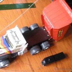 Juguetes antiguos Gozán: CAMION GOZAN VOLQUETE RADIO CONTROL MONOCANAL FUNCIONANDO. Lote 53642827