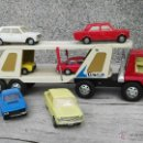 Juguetes antiguos Gozán: CAMION Y COCHES GOZAN,SEAT 124,SEAT 124 SPORT. Lote 54299412