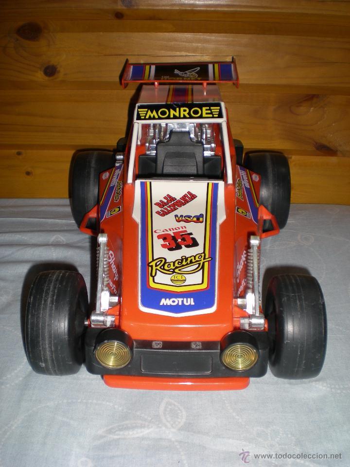 Juguetes antiguos Gozán: Precioso y gran coche RACING ICI Gozan de Hojalata hierro pasta de baquelita años 70 Baja California - Foto 2 - 54473645