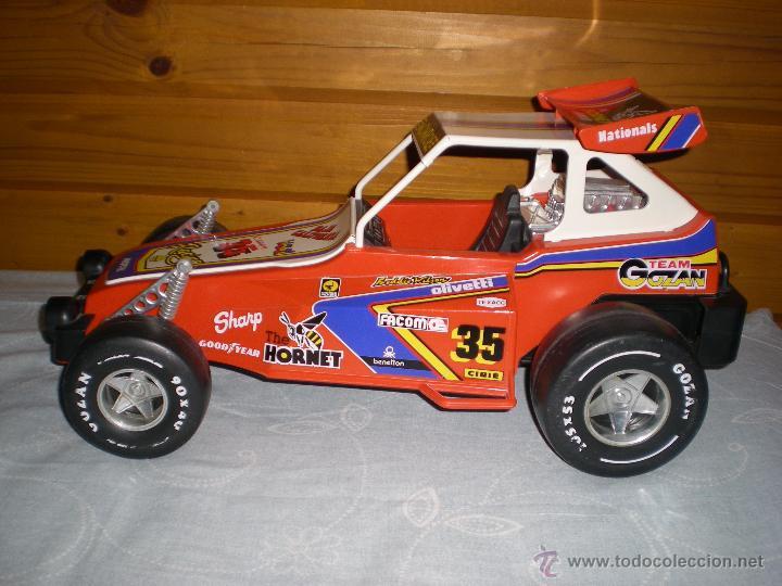 Juguetes antiguos Gozán: Precioso y gran coche RACING ICI Gozan de Hojalata hierro pasta de baquelita años 70 Baja California - Foto 3 - 54473645