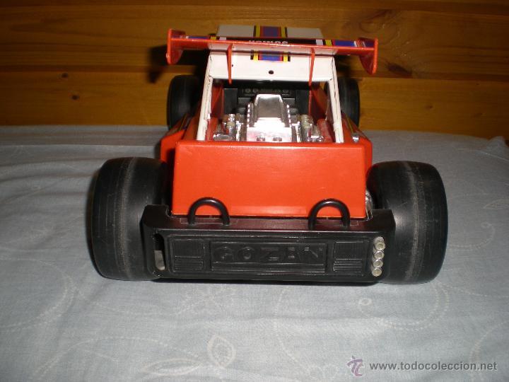 Juguetes antiguos Gozán: Precioso y gran coche RACING ICI Gozan de Hojalata hierro pasta de baquelita años 70 Baja California - Foto 4 - 54473645