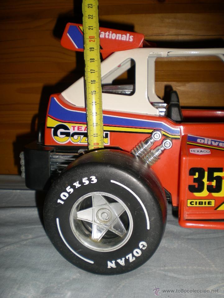Juguetes antiguos Gozán: Precioso y gran coche RACING ICI Gozan de Hojalata hierro pasta de baquelita años 70 Baja California - Foto 9 - 54473645