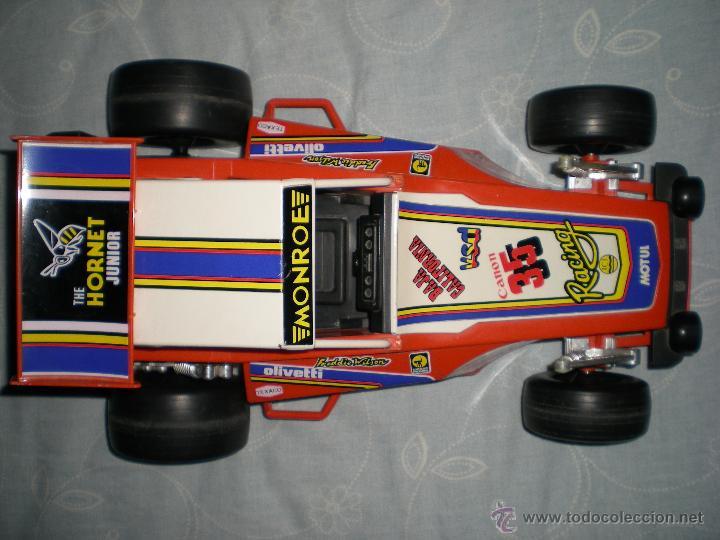 Juguetes antiguos Gozán: Precioso y gran coche RACING ICI Gozan de Hojalata hierro pasta de baquelita años 70 Baja California - Foto 10 - 54473645