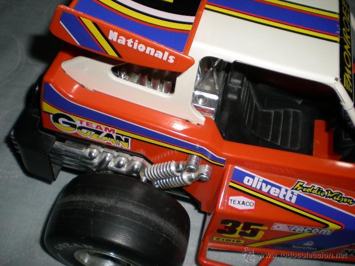 Juguetes antiguos Gozán: Precioso y gran coche RACING ICI Gozan de Hojalata hierro pasta de baquelita años 70 Baja California - Foto 11 - 54473645