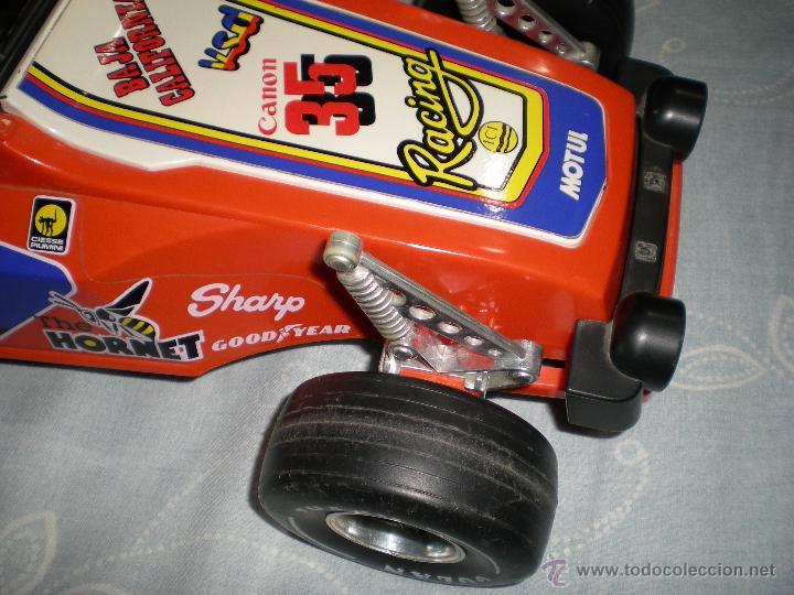 Juguetes antiguos Gozán: Precioso y gran coche RACING ICI Gozan de Hojalata hierro pasta de baquelita años 70 Baja California - Foto 12 - 54473645