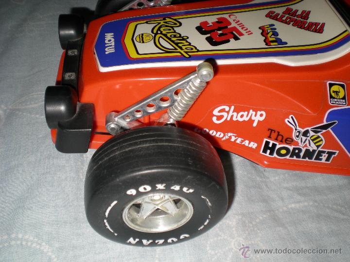 Juguetes antiguos Gozán: Precioso y gran coche RACING ICI Gozan de Hojalata hierro pasta de baquelita años 70 Baja California - Foto 13 - 54473645