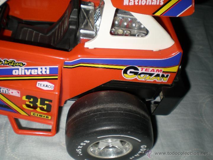 Juguetes antiguos Gozán: Precioso y gran coche RACING ICI Gozan de Hojalata hierro pasta de baquelita años 70 Baja California - Foto 14 - 54473645