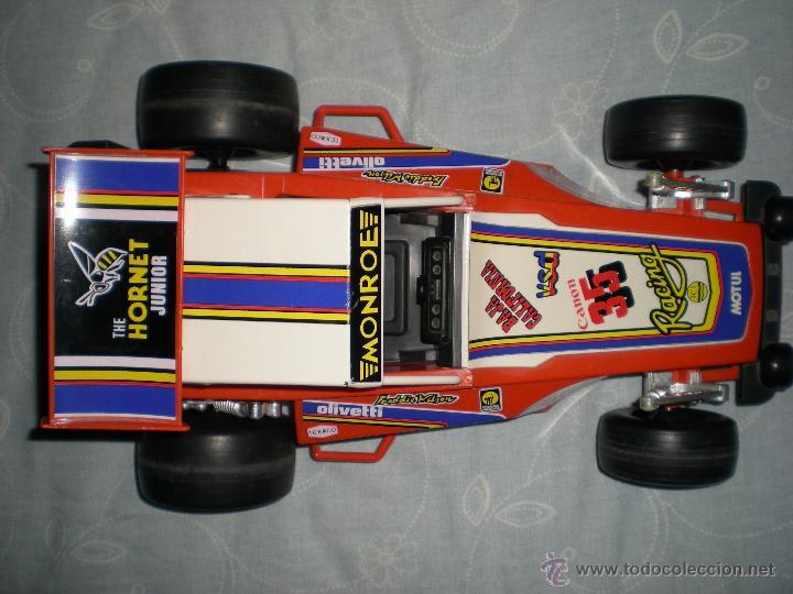 Juguetes antiguos Gozán: Precioso y gran coche RACING ICI Gozan de Hojalata hierro pasta de baquelita años 70 Baja California - Foto 15 - 54473645