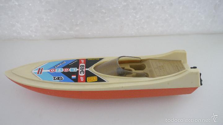 Juguetes antiguos Gozán: Lancha naranja, fueraborda de carreras, años 80. - Foto 2 - 56030022