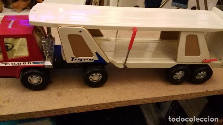Juguetes antiguos Gozán: Camión tigre 2000 transporte de coches de Gozan - tigre car-2 - Foto 5 - 62964598