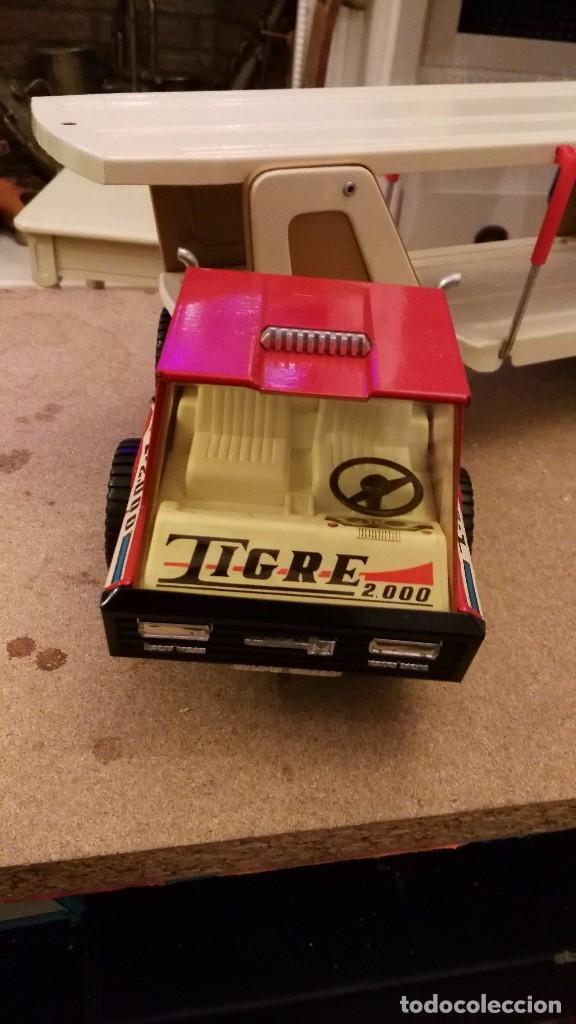 Juguetes antiguos Gozán: Camión tigre 2000 transporte de coches de Gozan - tigre car-2 - Foto 6 - 62964598