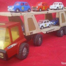 Juguetes antiguos Gozán: CAMION TRAILER TIGRE CAR-2 T-2000 + 6 MINI 1000 DE GOZAN - NUEVO. Lote 62836828