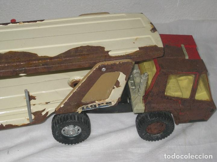 Juguetes antiguos Gozán: Antiguo Camión Coche Hojalata Juguete Años 70 Tigre 2000. España. Gozan. 56Cm - Foto 12 - 78157777