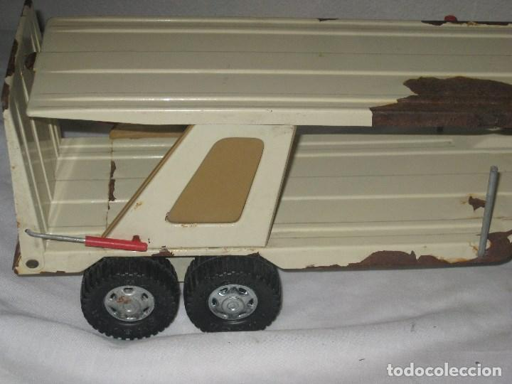 Juguetes antiguos Gozán: Antiguo Camión Coche Hojalata Juguete Años 70 Tigre 2000. España. Gozan. 56Cm - Foto 13 - 78157777