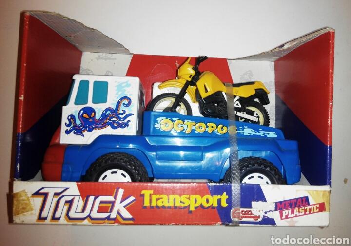 GOZAN TRUCK TRANSPORT CAMIÓN CON MOTOS. AÑOS 80. NUEVO (Juguetes - Marcas Clásicas - Gozán)