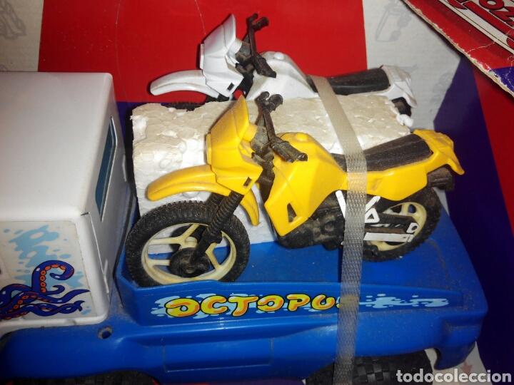 Juguetes antiguos Gozán: GOZAN TRUCK TRANSPORT CAMIÓN CON MOTOS. AÑOS 80. NUEVO - Foto 3 - 97959479