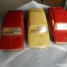 Juguetes antiguos Gozán: 3 COCHES GOZAN, SEAT 124, CHAPA Y PÁSTICO. Lote 105283439