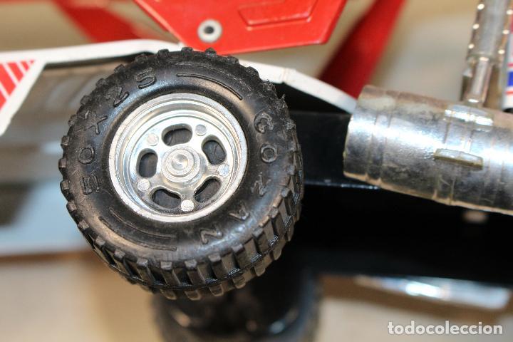 Juguetes antiguos Gozán: GOZAN - Camión chapa americano TIGERS TEAM SUPER BOSS BANDIT ROAD remolque porta coche MIGHTY TRANS - Foto 3 - 107627447