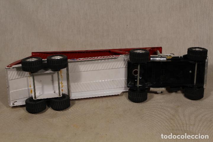 Juguetes antiguos Gozán: GOZAN - Camión chapa americano TIGERS TEAM SUPER BOSS BANDIT ROAD remolque porta coche MIGHTY TRANS - Foto 7 - 107627447