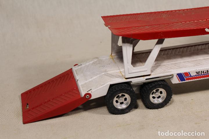 Juguetes antiguos Gozán: GOZAN - Camión chapa americano TIGERS TEAM SUPER BOSS BANDIT ROAD remolque porta coche MIGHTY TRANS - Foto 8 - 107627447