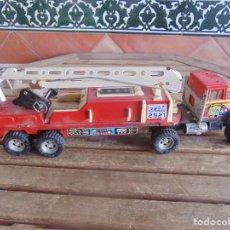 Juguetes antiguos Gozán: CAMION BOMBEROS DE GOZAN EN METAL Y PLASTICO. Lote 108702999