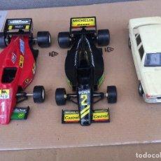 Brinquedos antigos Gozán: LOTE DE 3 COCHES GOZAN DE PLASTICO ESCALA 1:24. Lote 115487379