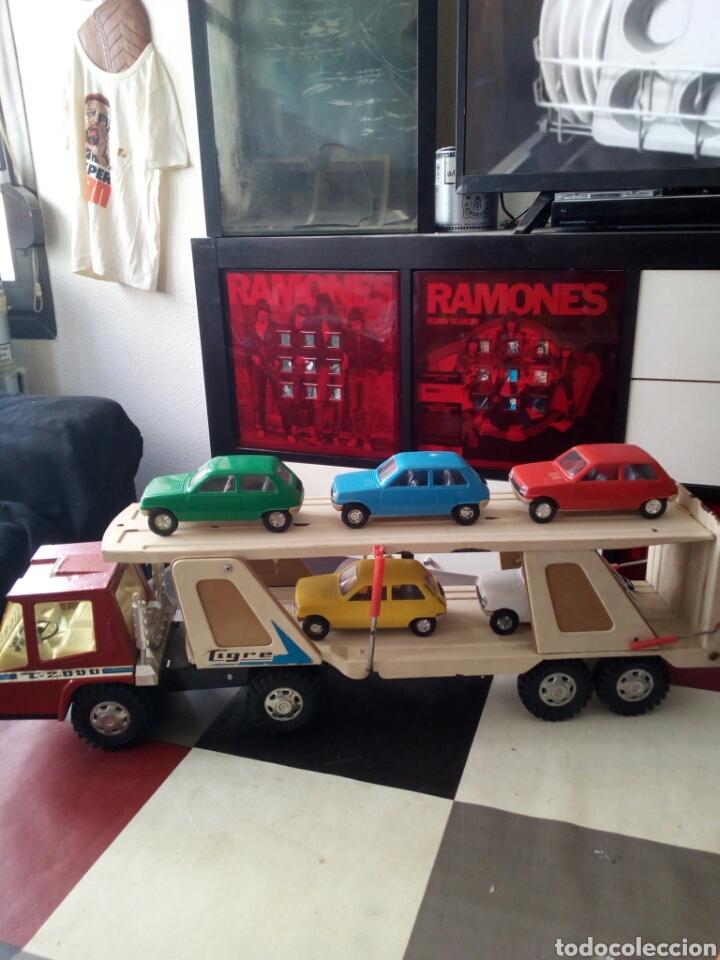 Juguetes antiguos Gozán: Camion porta coches Gozan - Foto 2 - 119390507